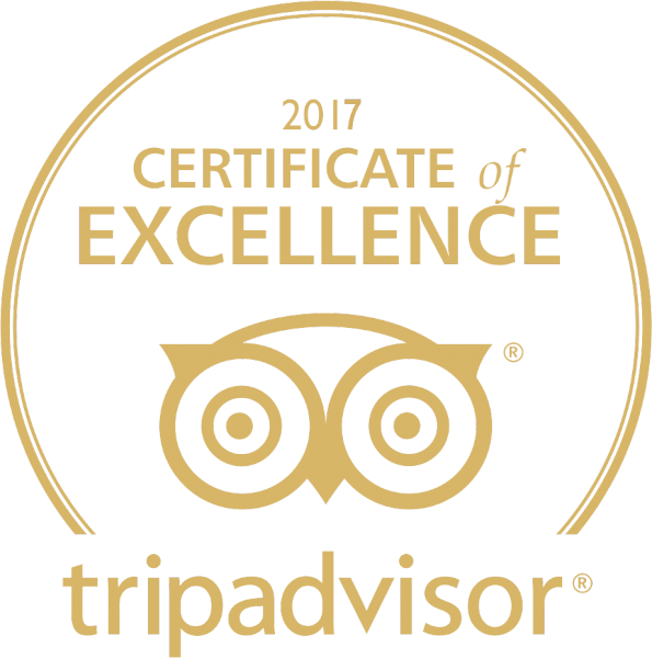 Trip Advisor - 2017 Certificate of Excellence